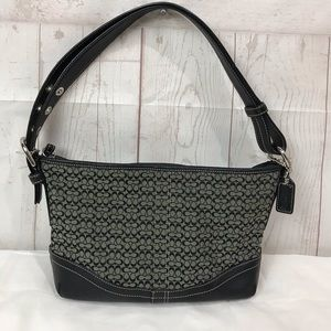 Authentic Coach Black Signature logo F10945